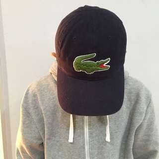 Men's Big Croc Gabardine Lacoste Hat, Navy Blue