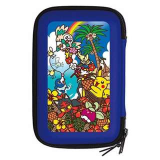 (Instock x1) Pokemon hard pouch for New Nintendo 3DS LL Sun and Moon Starters with Pikachu