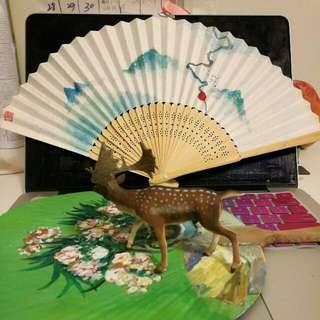 Hand Drawing Oriental Style Fan