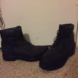 Black Timbaland Boots
