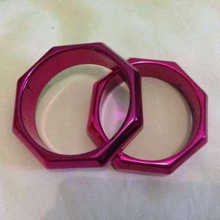 Gelang Pink Metalic