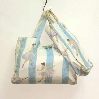 Ballerina Tote bag with Matching Shoe bag