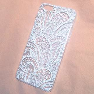 Typo iPhone 6 / 6s White & Clear Mandala Case