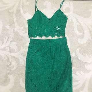 Bardot Top And Skirt. Worn Once.size 8/10