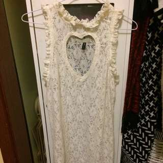 One Teaspoon Off-White Lace Dress