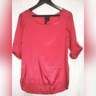 Pink Satin Top