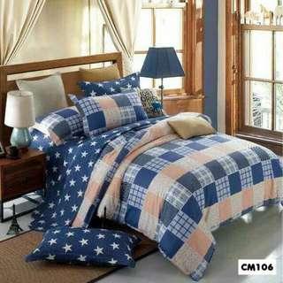 (5折發售) 純棉床笠連枕套/被套 CM106