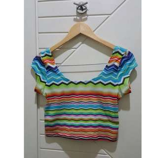 Crop Forever21 Colorful Top