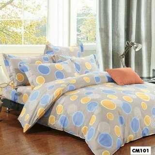 (5折發售) 純棉床笠連枕套 / 被套 CM101