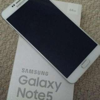 WHITE Samsung Note 5 - 64gb