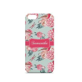 Personalized Phone Case Birds Floral