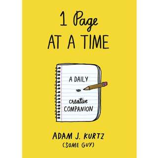 1 Page at a Time by Adam J. Kurtz book