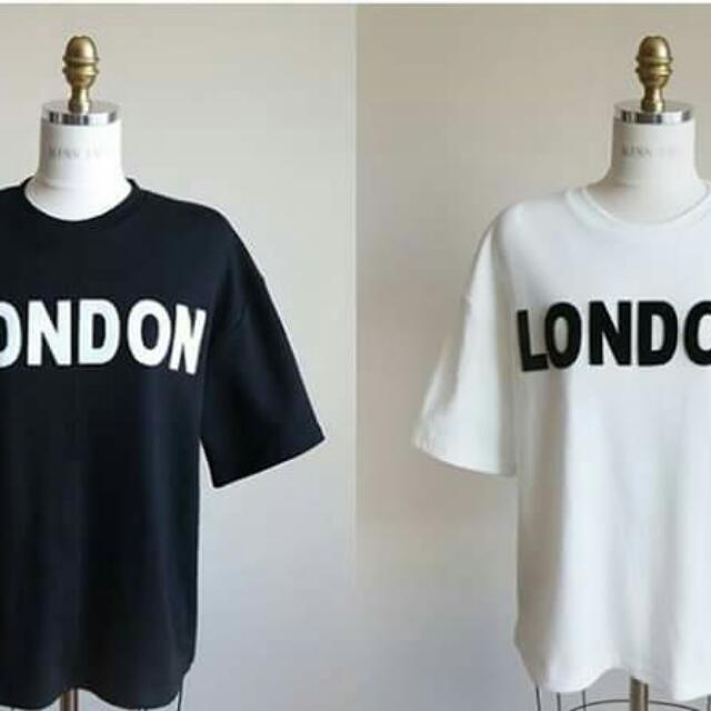 倫敦文字印花上衣
