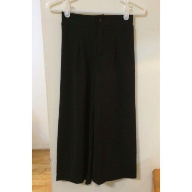 黑色寬褲(全新💓)