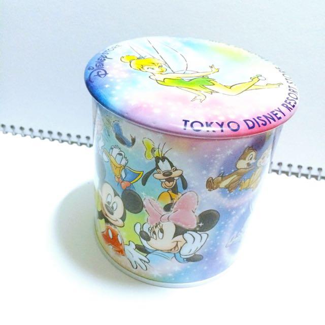 🌸日本帶回 絕版 迪士尼樂園 餅乾罐 鐵罐