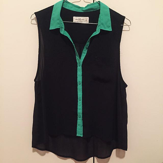 Abercrombie & Fitch Chiffon Shirt