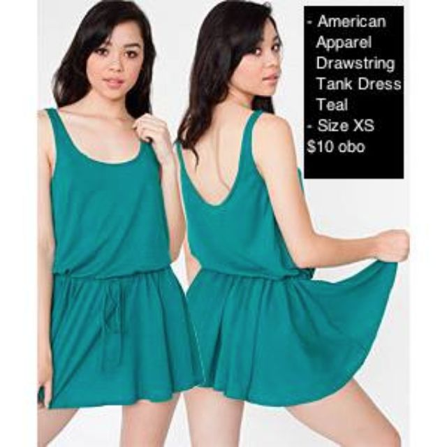 American Apparel Drawstring Tank Dress