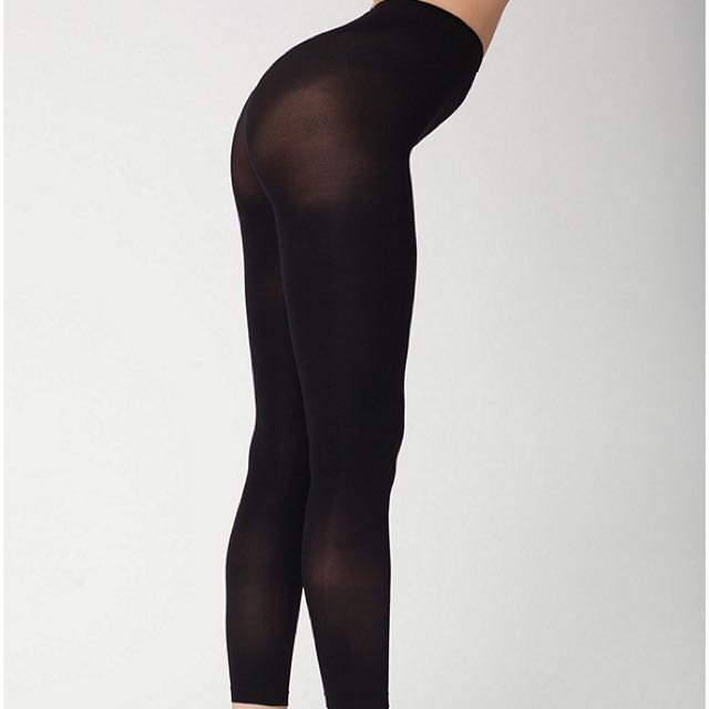 American Apparel Opaque Footless Pantyhose