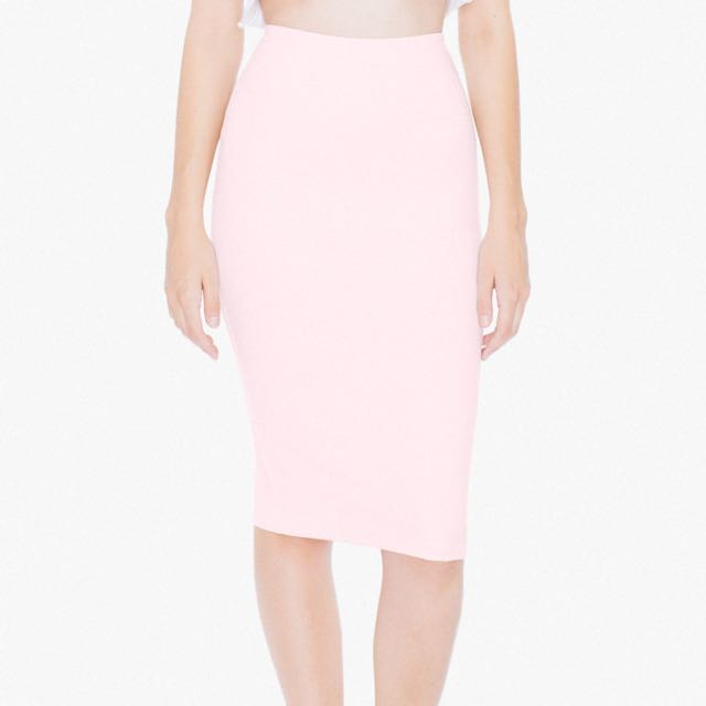 American Apparel Ponte Mid-Length Pencil Skirt
