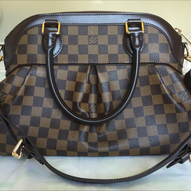 Authentic Louis Vuitton Trevi PM In Damier Ebene