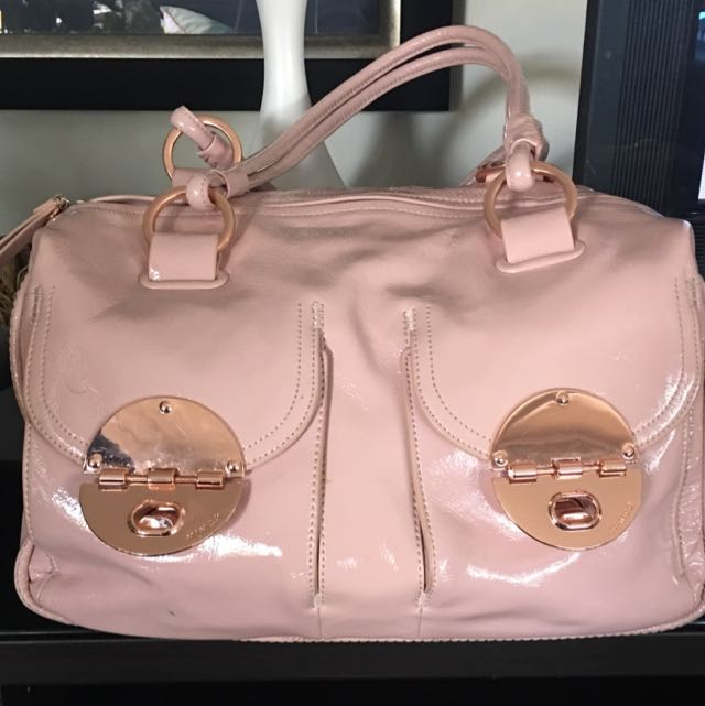 Baby Pink And Rose Gold Mimco Bag