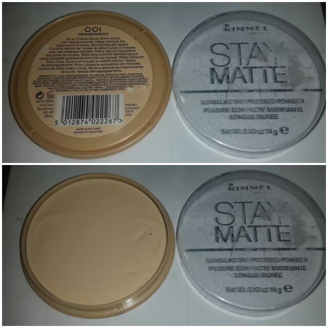 Bedak Rimmel Stay Matte Pressed Powder 001 Transparent Preloved 85%