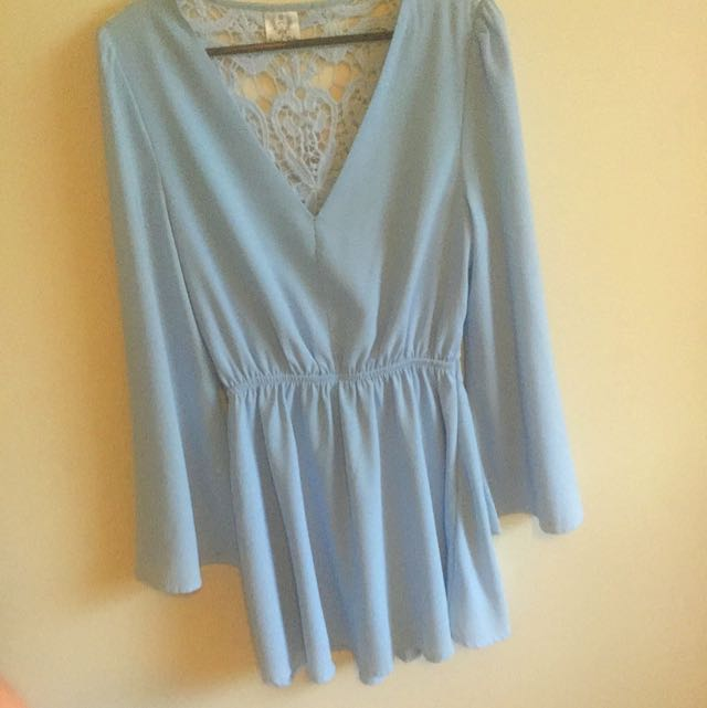 Blue Bell Sleeve Dress --pending--