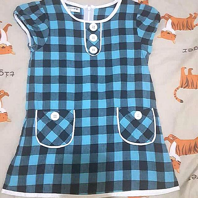 checkered baby dress