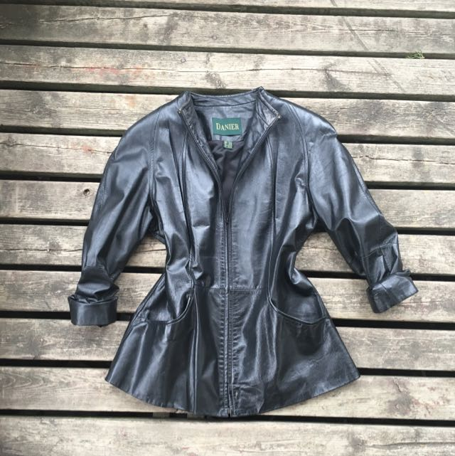 Danier Women's Mandarin Leather Jacket