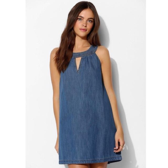 Denim Dress W/ Halter Top