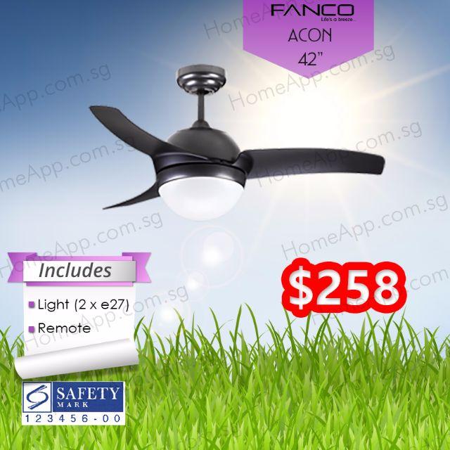 Fanco Acon 42 Inch Ceiling Fan With