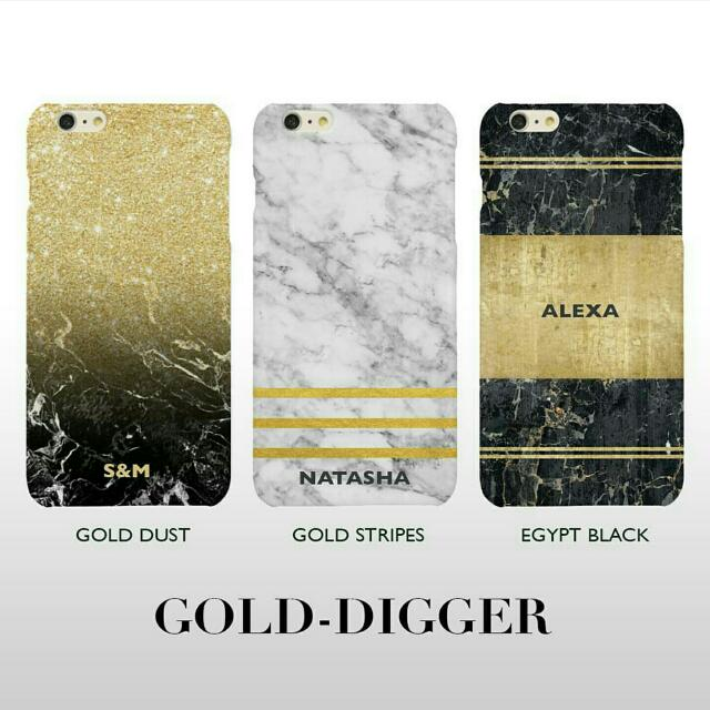 Gold Digger Marble Phone Case
