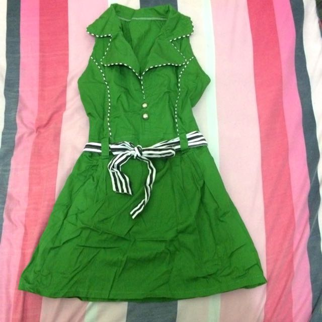 Green Polyester Dressy Top