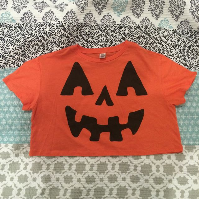 Halloween Crop Midriff - Size 8