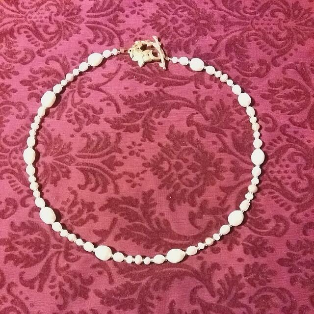 Hand Made Fresh Water Pearl Necklace With Gold Plated Clasp
