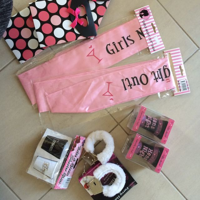 Hen's sashes, Hand Cuff, Shot Glasses, Gift Bags & More
