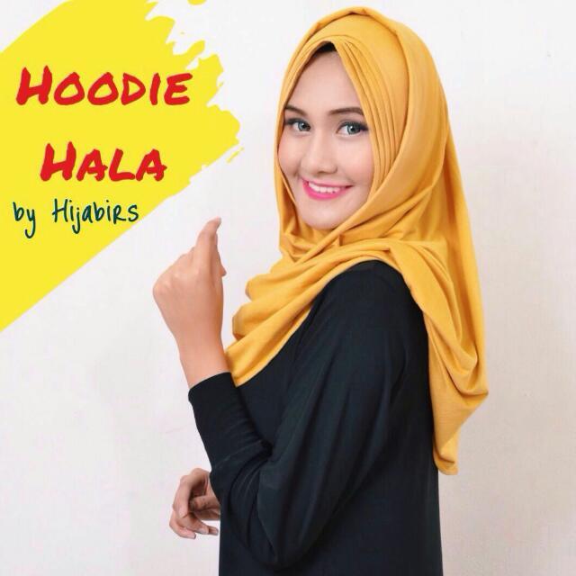 Hijab Instant Hoodie Hala Mustard