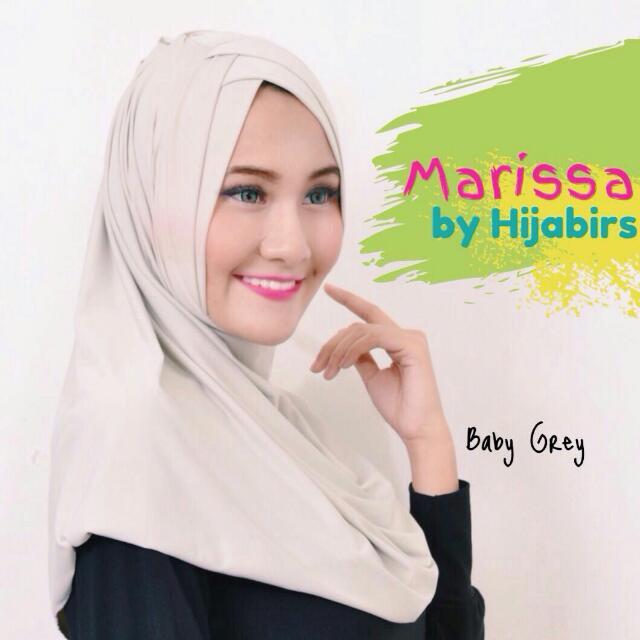 Hijab Instant Marissa Baby Grey Hijabirs