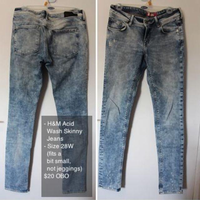 H&M Acid Wash Skinny Jeans