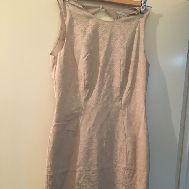 H&m Nude Dress Size 10