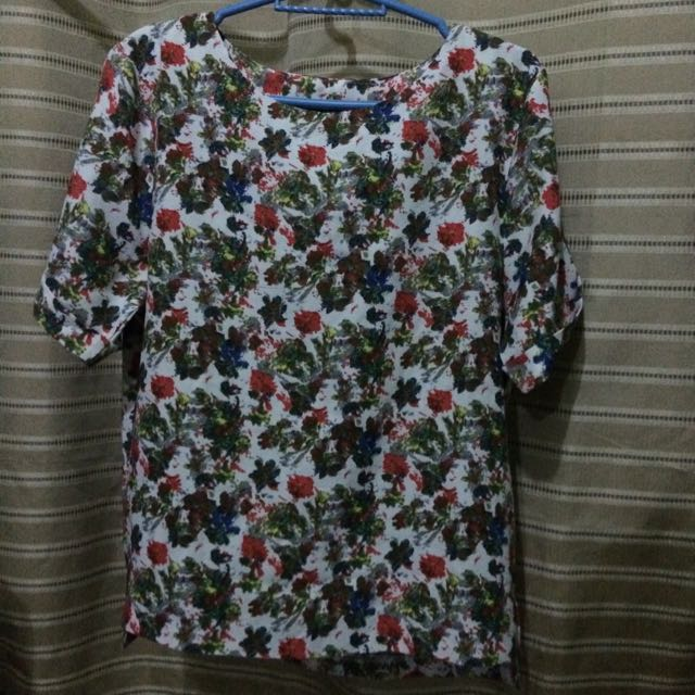 Khaki (Korean Brand) Floral Top