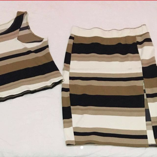 Matchy Croptop And Pencil Skirt