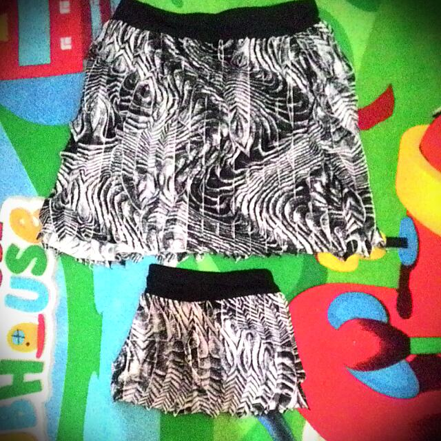 mom and daughter skirt terno