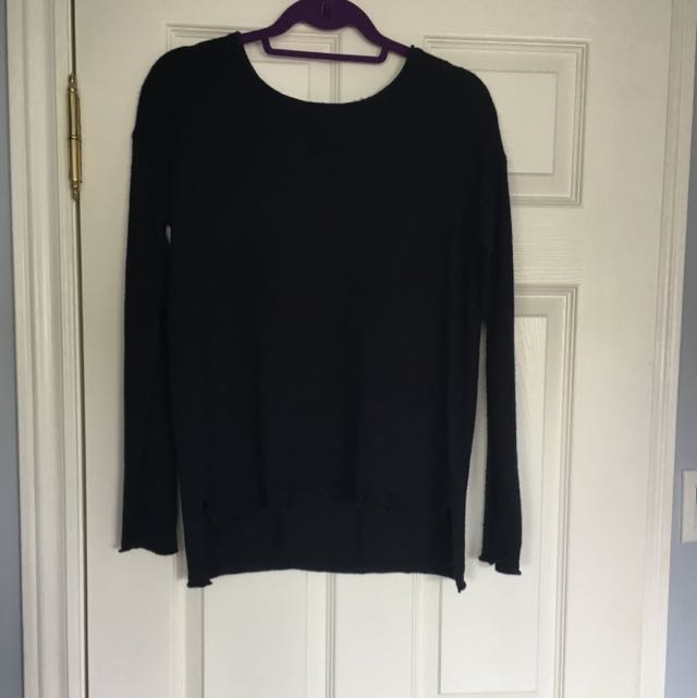 Navy Blue H&M sweater with zipper on back