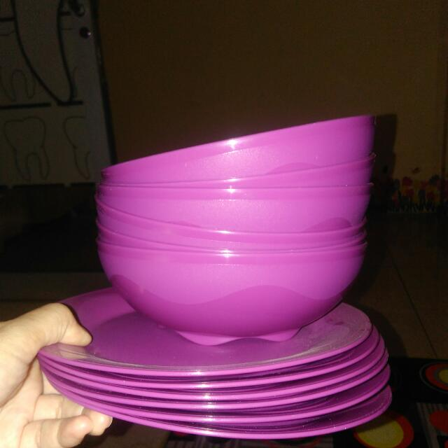 OH Plate And Bowl Tupperware