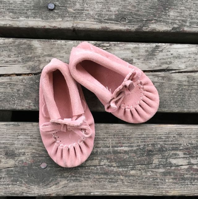 ✨PRICE DROP✨ Pink Genuine Leather Baby Moccasins