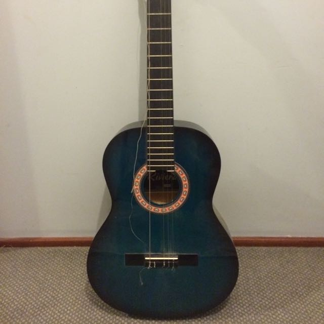 Riviera Blue/teal Acoustic Guitar