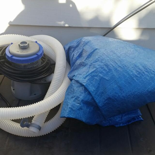 small pool pump and pool cover