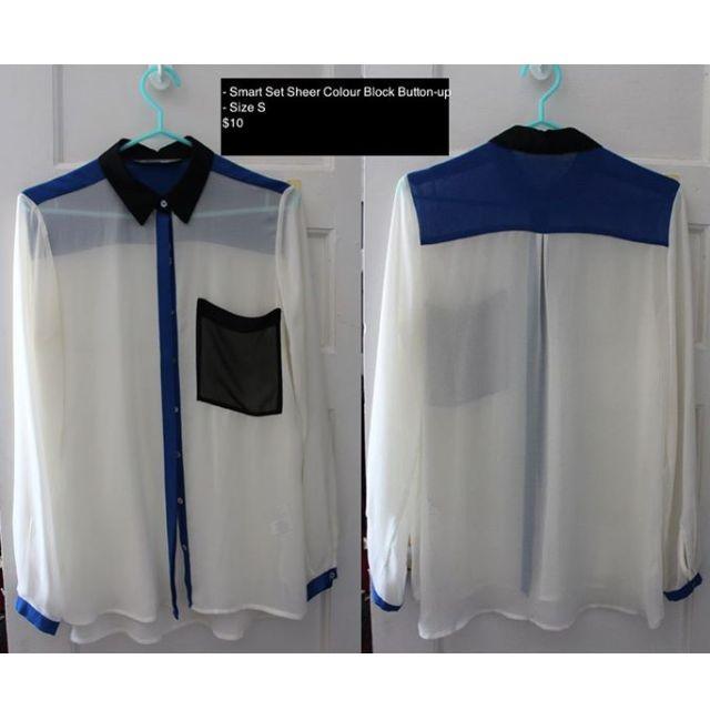 Smart Set Colour Block Button-Up Shirt