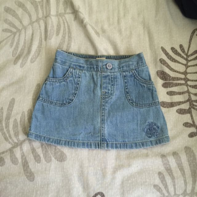 Toddler's Mini Skirt ( Light Denim)